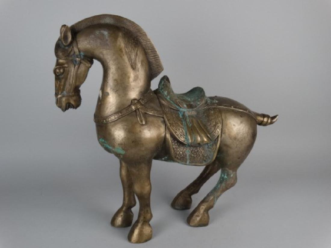 Chinese Metal Horse Sculpture - 2