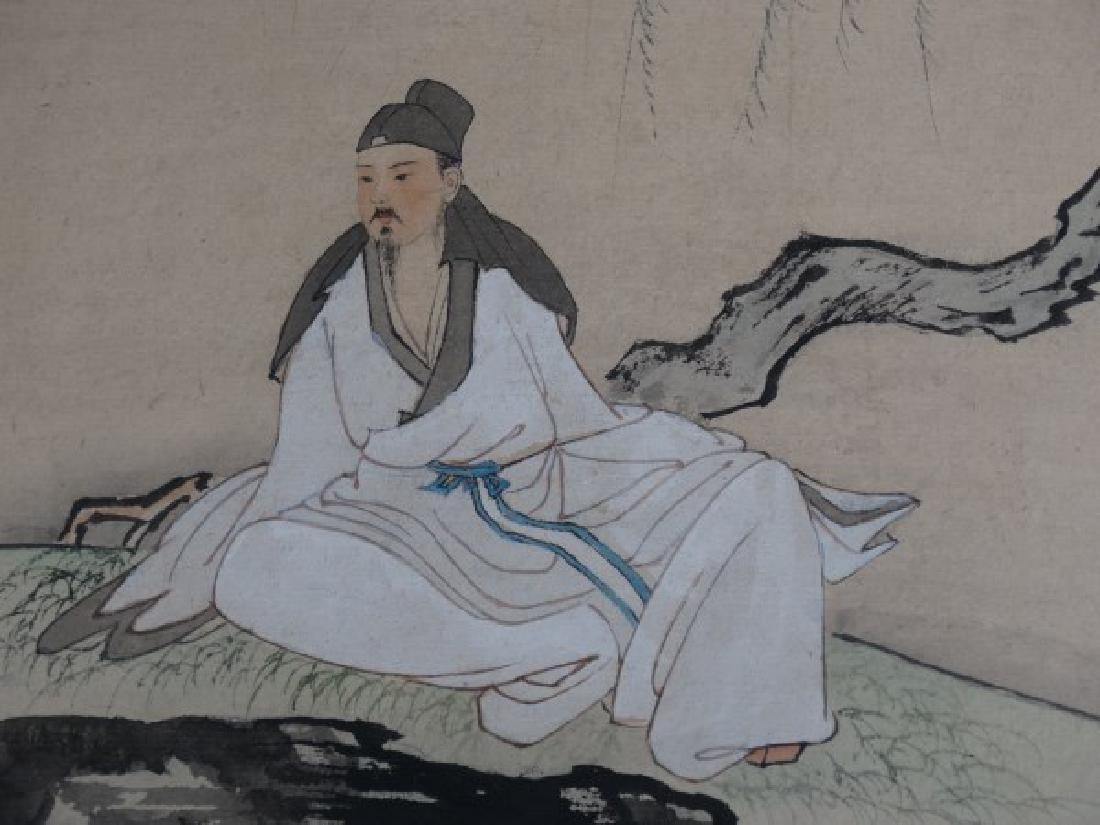 Japanese Watercolor Painting of a Man - 3