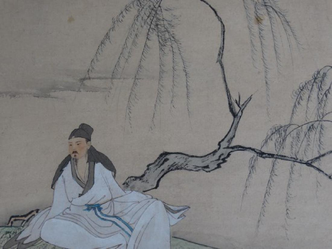 Japanese Watercolor Painting of a Man - 4