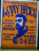 Lenny Bruce & The Mothers (Zappa) Concert Poster