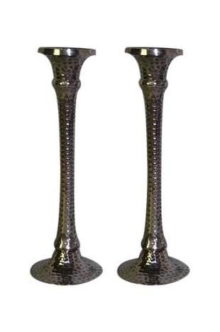 Pr. Arts & Crafts Style Hammered Candlesticks