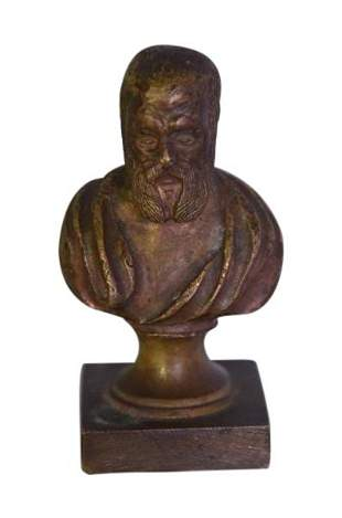 Small Bronze Bust Man