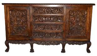 A Renaissance Revival Mahogany Buffet Cabinet