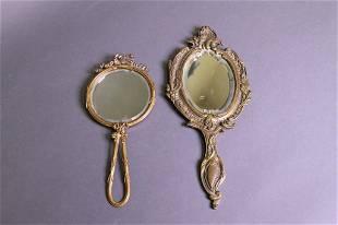 2 Antique Hand Mirrors