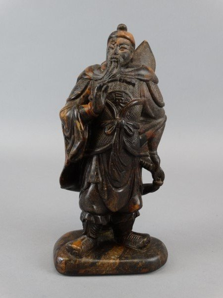 Hardstone Carving of a Warrior