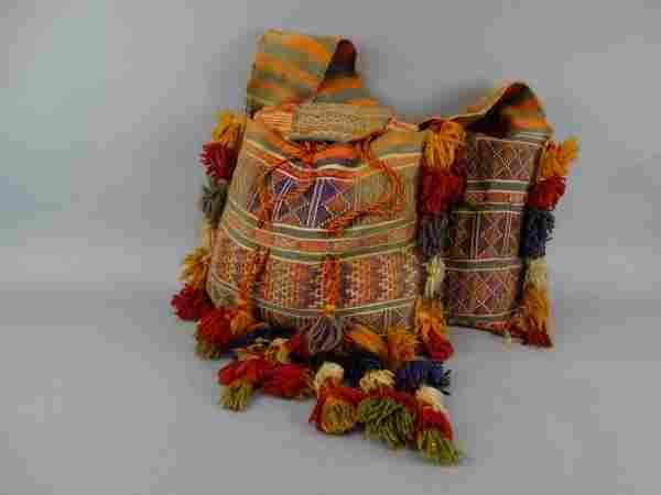 Antique Persian Wool Camel Saddle Bag