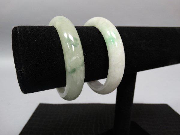 Pair of Green Jade Bangles