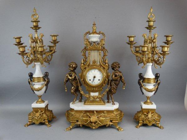 3 Piece French Garniture Set