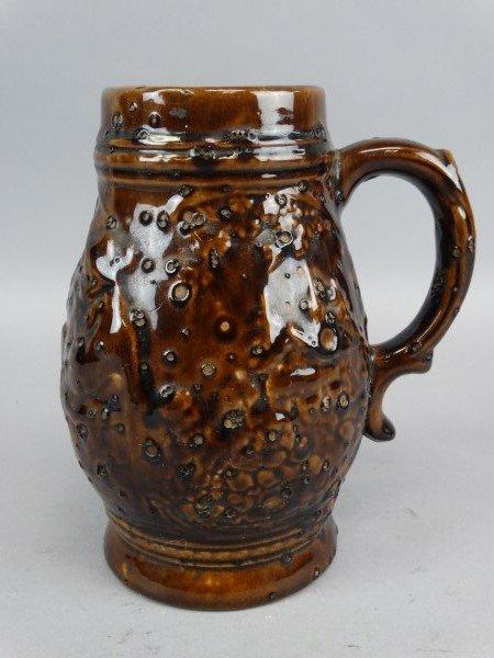 Brown Glazed Pottery Stein