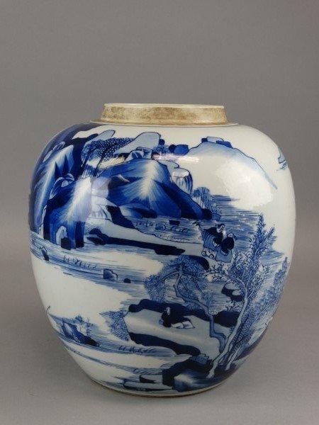 Chinese B&W Kangxi Pot