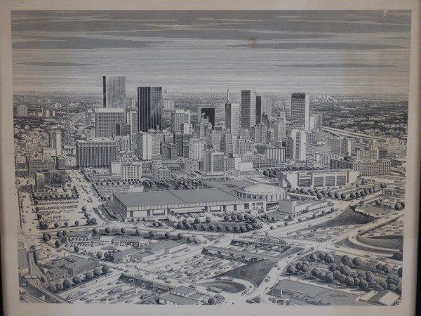 KARL HOEFLE - Framed Print - Dallas Skyline