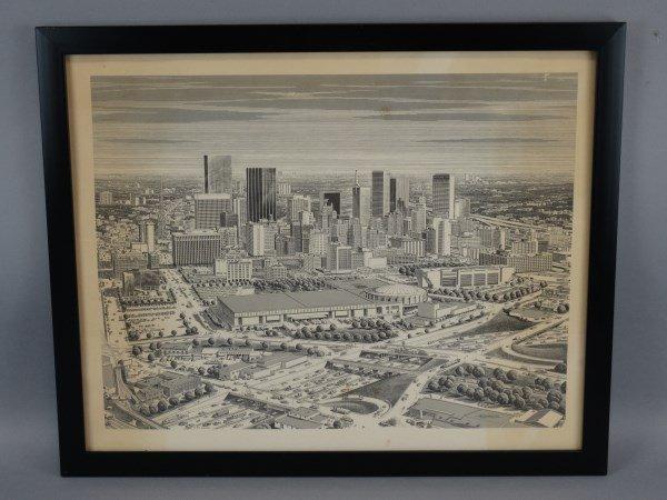KARL HOEFLE - Framed Print - Dallas Skyline - 2