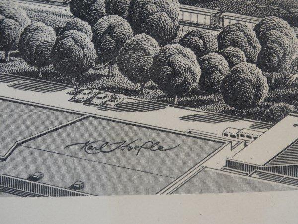 KARL HOEFLE - Framed Print - Dallas Skyline - 3