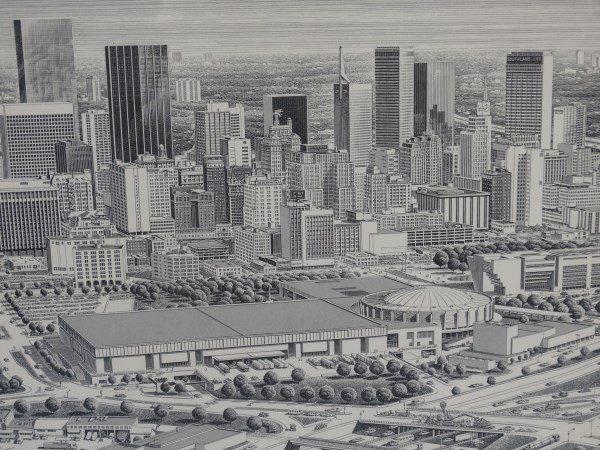 KARL HOEFLE - Framed Print - Dallas Skyline - 4