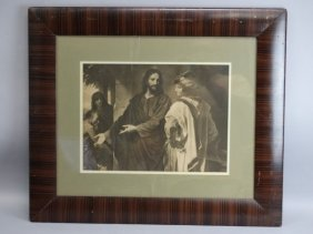Vintage Framed Print Of Jesus