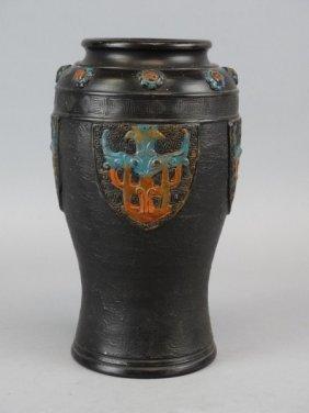 Japanese Pottery Vase