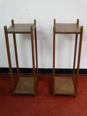 Pair Of Mission Style Side Tables
