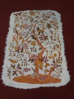 Antique Middle Eastern Embroidered Blanket