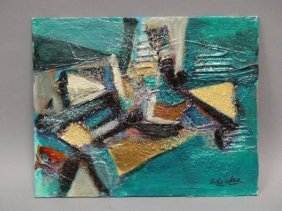 "David Adickes - ""untitled"" Acrylic On Panel"