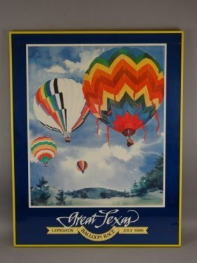 Poster From Inaugural Great Texas Balloon Race