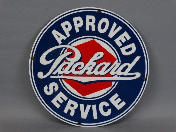 Vintage Porcelain Packard Approved Service Sign