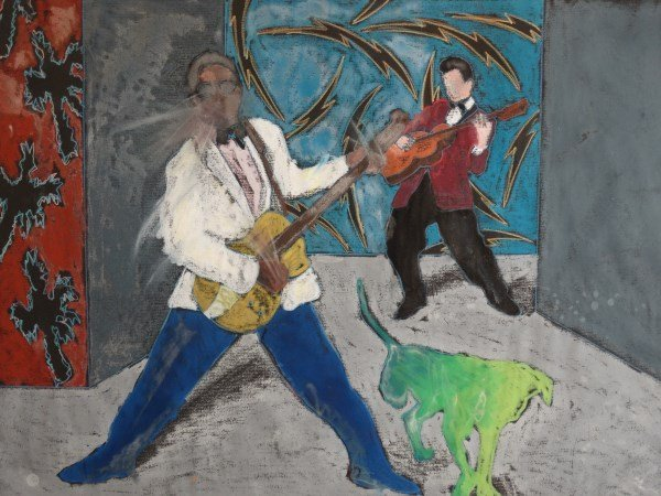 RICK MAXWELL - Bo, Duane & D  Pastel Painting