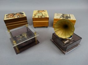 Lot Of 5 Music Boxes
