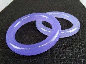 Pair Of Purple Jade Bangles