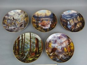 Lot Of 5 Danbury Mint Plates - Rudi Reichardt