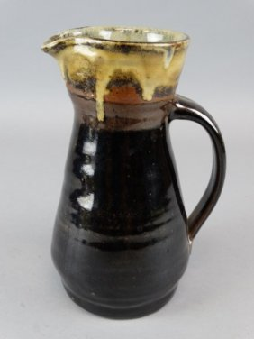 Japanese Studio Art Pottery Pitcher