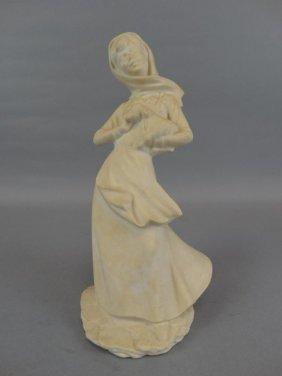 Large Plaster Woman Figurine
