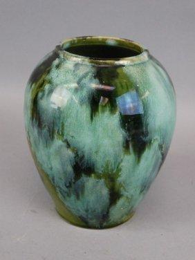 Green Mottle Glazed Vase