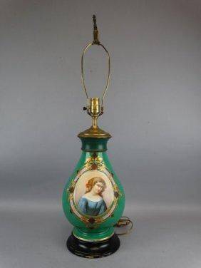 Handpainted Porcelain Lamp
