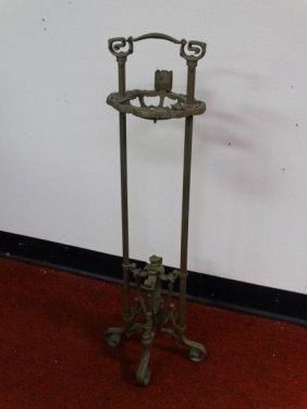 Ornate Victorian Style Cast Metal Smoke Stand