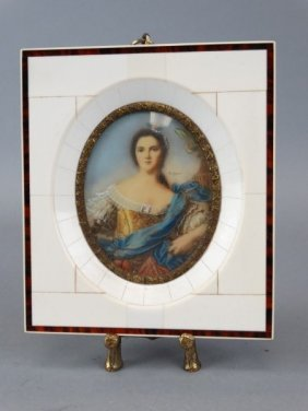 Portrait Miniature Signed Dimare