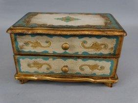Gold Gilt Wood Dresser / Music Box