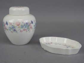 Wedgewood - Angela Lidded Jar & Tray