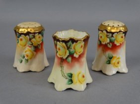 Bavarian Porcelain S&p Set W/ Toothpick Holder