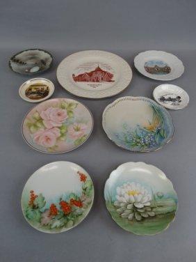 Lot Of 9 Porcelain Cabinet Plates