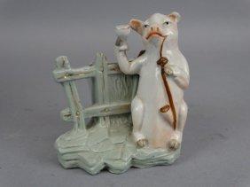 Rare Pig Themed Toothpick Holder