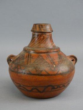 Mesoamerican Redware Pottery Vessel
