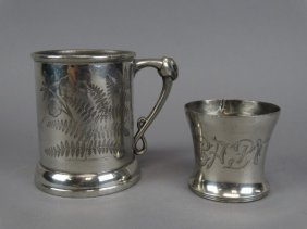 Baby Mug & Ornate Stein In Quadruple Plate
