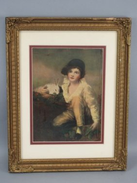 Framed Print In Old Gold Gilt Frame