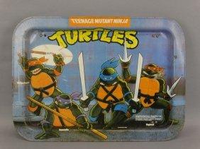 Vintage Teenage Mutant Ninja Turtle Metal Tv Tray