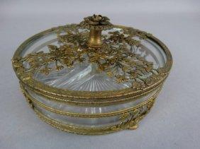 Vintage Ornate Separated Dish W/ Lid