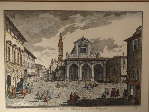 GIUSEPPE ZOCCHI - Colorized Lithograph