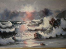 Dowlan - Oil On Canvas : Seascape