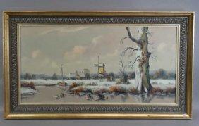 Anton Muller - Oil On Canvas : Landscape