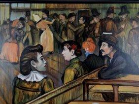 Oil On Canvas After Toulouse Lautrec
