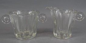 Heisey Glass Cream & Sugar Set